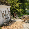 Tool shed, Colonial Garden and Nursery, Colonial Williamsburg, Virginia