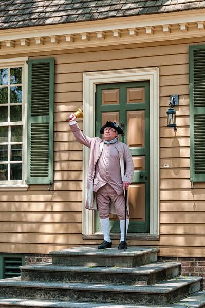Town Crier, Reenactor, Colonial Williamsburg, Virginia