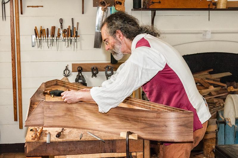 Edward Wright, Harpsichord Maker, Colonial Williamsburg, Virginia