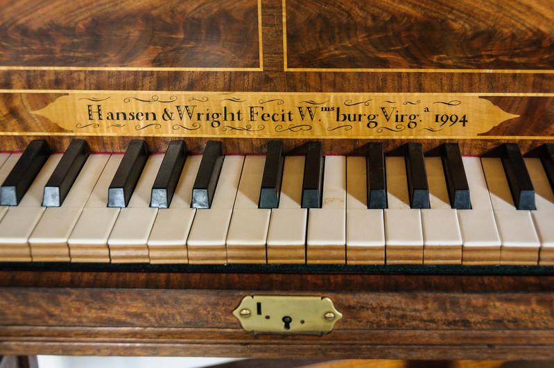 Harpsichord Keyboard inside Hay's Cabinetmaking Shop, Colonial Williamsburg, Virginia