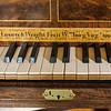 Harpsichord Keyboard inside Hay's Cabinetmaking Shop, Colonial Williamsburg, Virginia