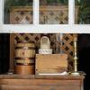 Open shop window displaying sales items, Colonial Williamsburg, Virginia
