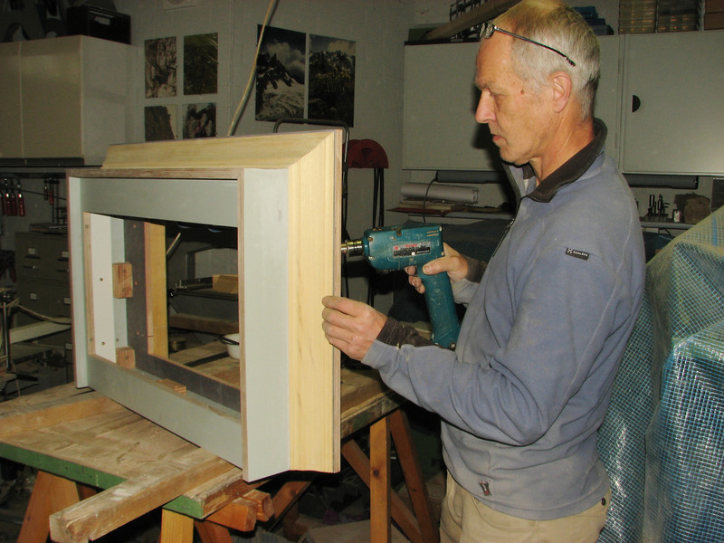 Making the cooker hood