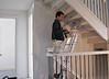 Robert is primering the stair