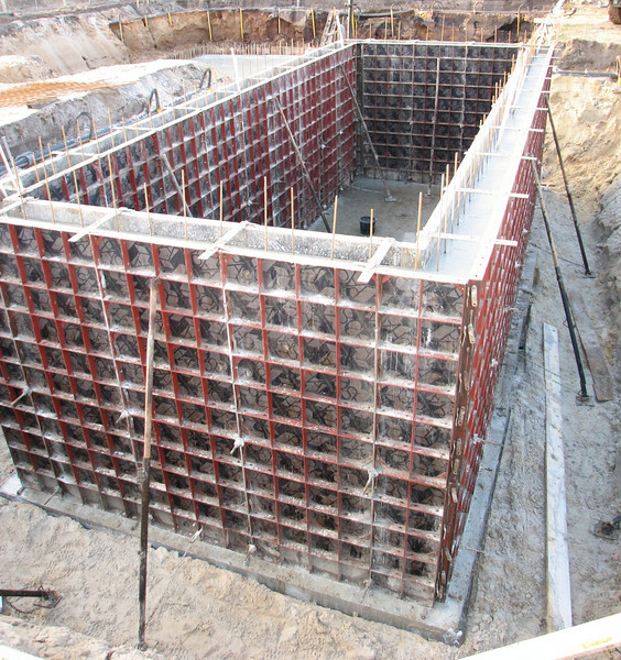 Finish of casting the cellar (reinforced concrete)