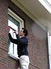 Rick sealing the windows