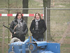 The spectators Fieke and Saskia,