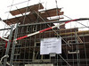 July 23th 2011, Sign:  To day no work but fun. (NL: pannenbier)  Drink given to building workers/friends when the building is topped out
