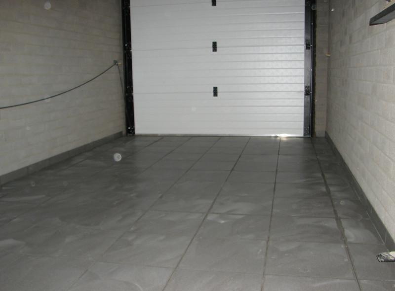 Tiled garage floor