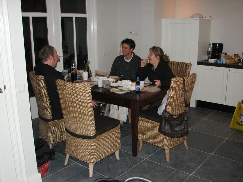 First diner at home of Saskia and Robert