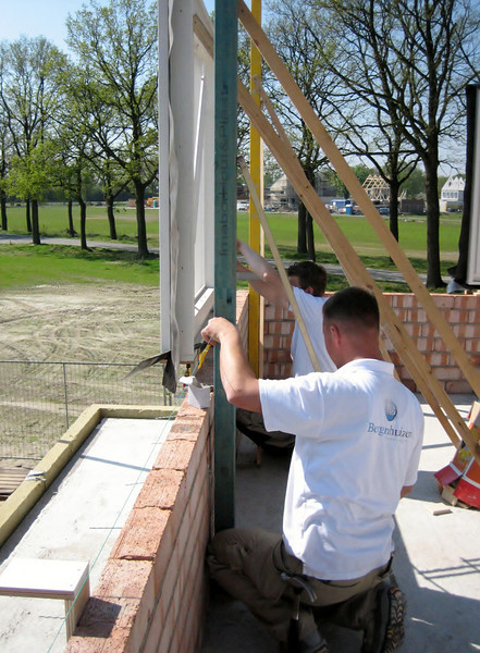 Setting windows on the first floor