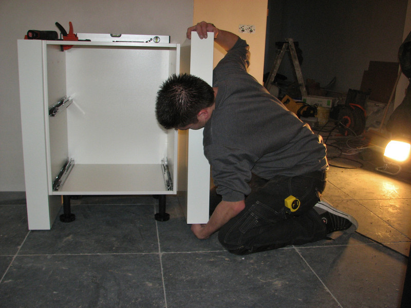 Assembling the kitchen