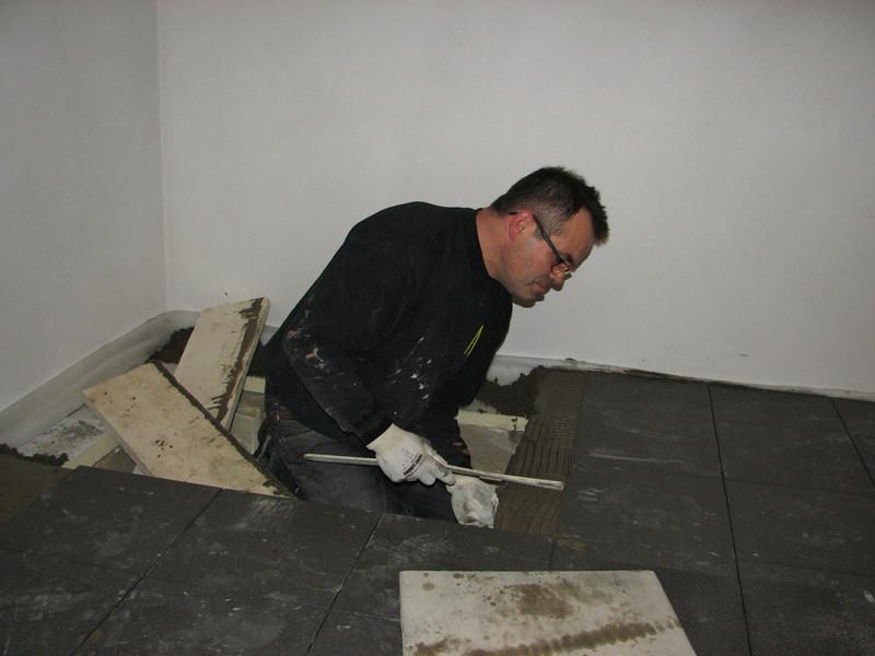 Hans tiling a hole