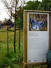 The information signe about insects/butterflies in the front garden :-))