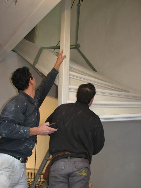 Hoisting the stair