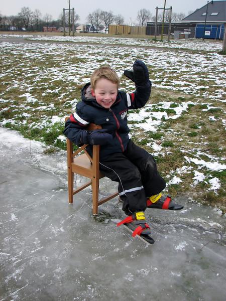 Ice skating in Sonnius park