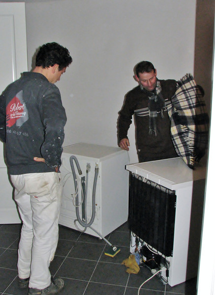 Moving in the technical room with help of Frans Merks