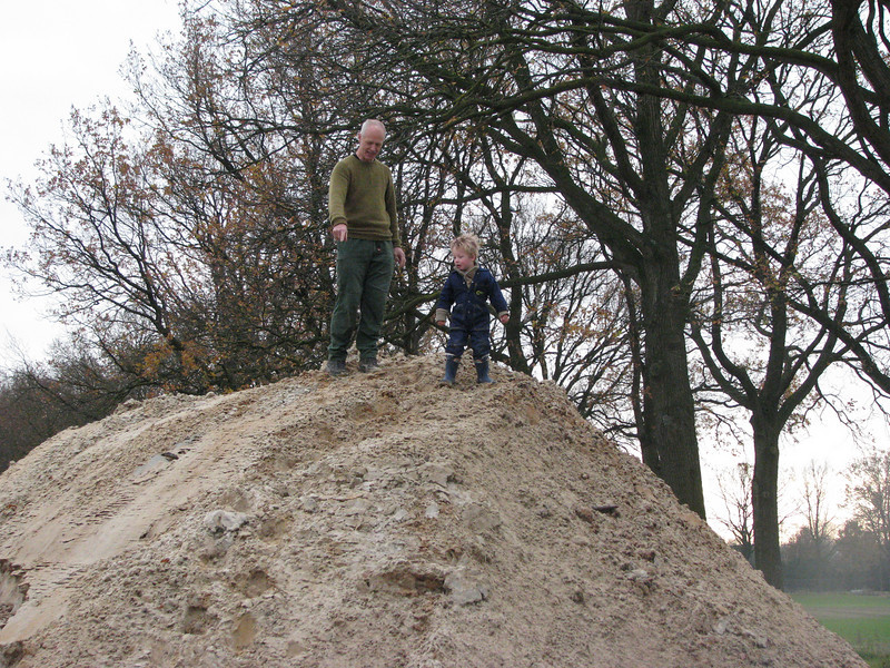 Climbing the hill with granddad