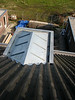 Zinc roof of the dormer