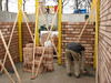 Bricklaying the cellar walls