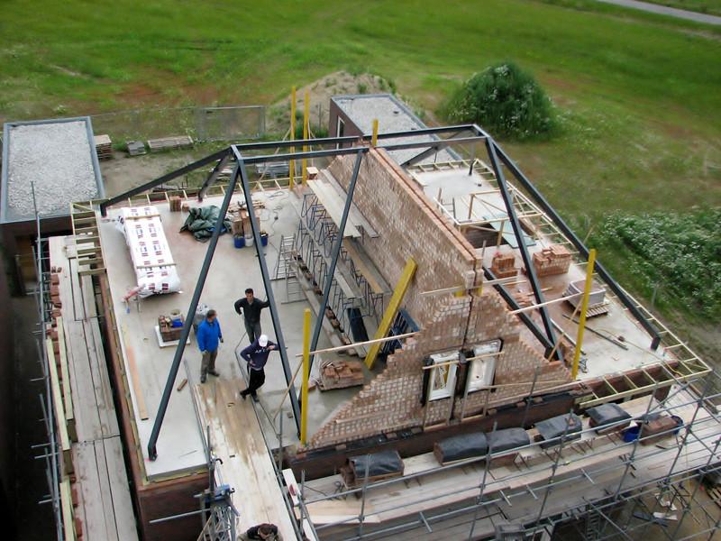 Crane view house