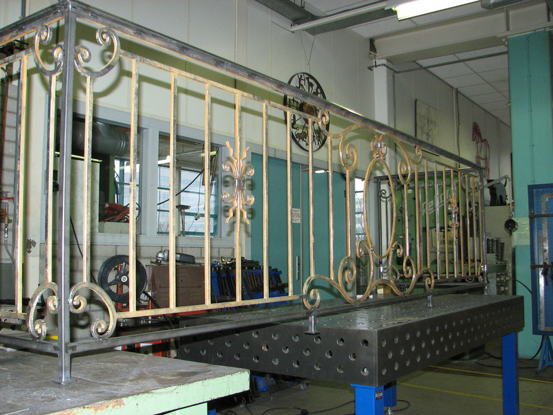 The finished balcony fence