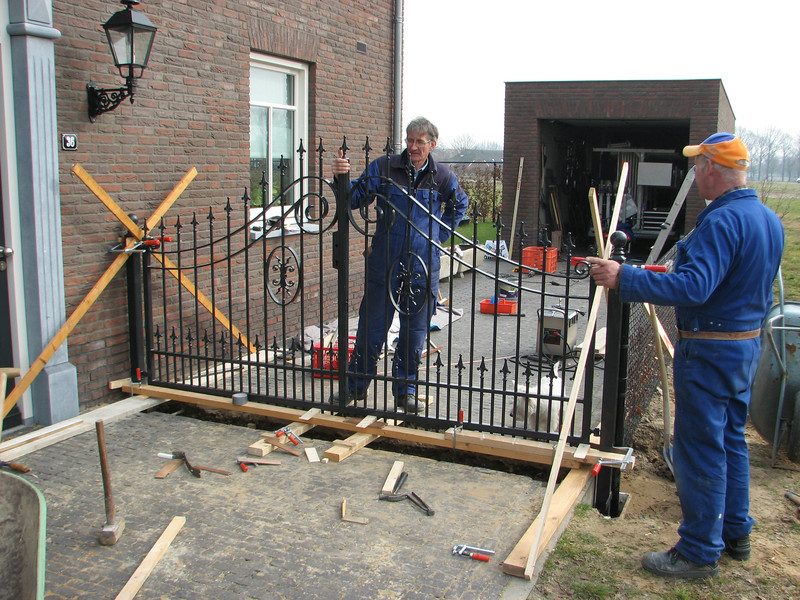 installation of the gates