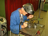 Wil Boetzkes is welding the gate parts
