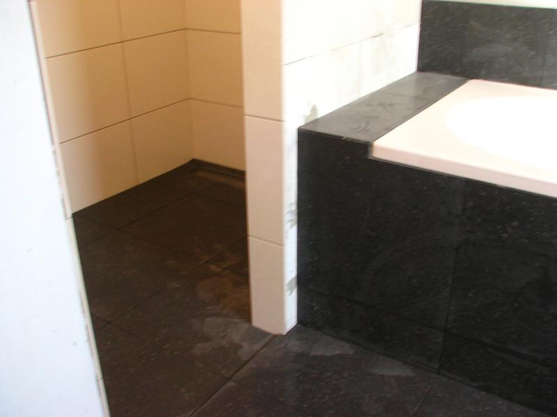 Tiling the bathroom floor