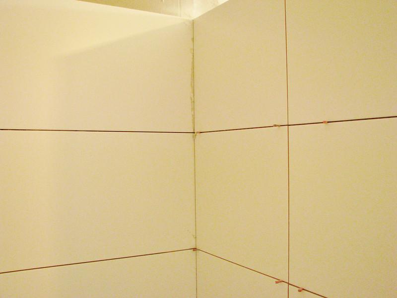 Tiled douche walls