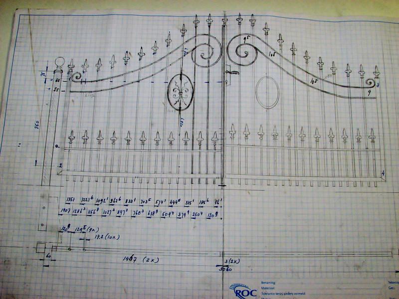 Gate design of Jufferlaan 36