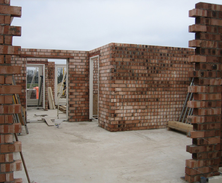 Bricklaying of the interior walls on the ground floor is finished