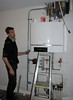 Erick installing the central-heating boiler (CH) (firm E. v.d. Linden