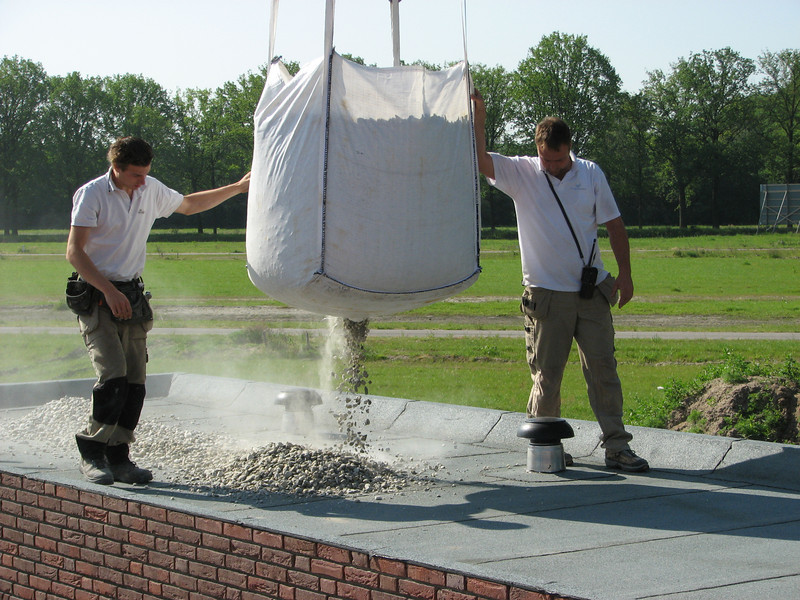 Roof ballast (gravel)