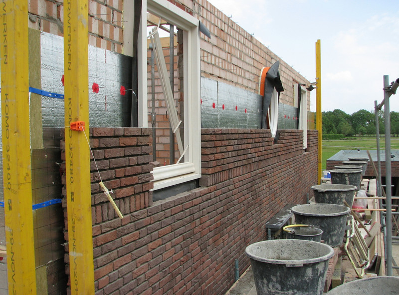 South wall under construction