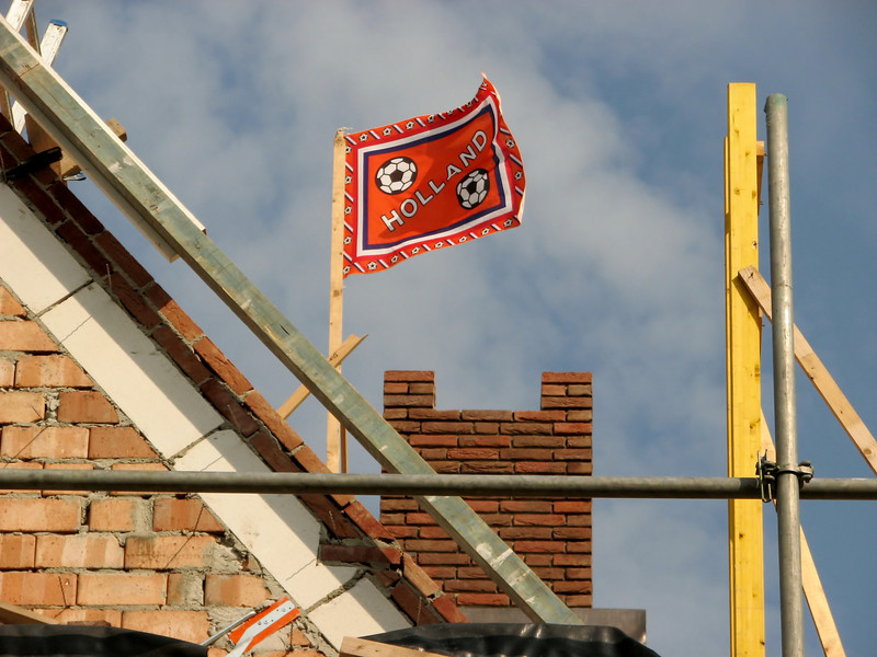 Flag in top, reaching highest point