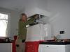 Marijn installing the exhauster