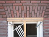 Bricksupright course of the garage windows (width 780mm) (NL: strekse boog, garage-ramen))