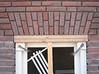 Bricksupright course of the garage windows (width 780mm) (NL: strekse boog, garage-ramen))
