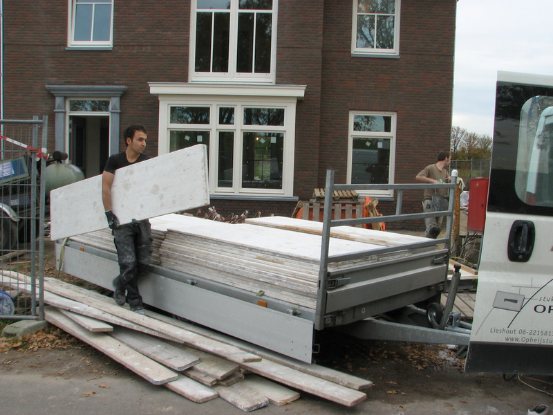 Removing the plasterer scaffold