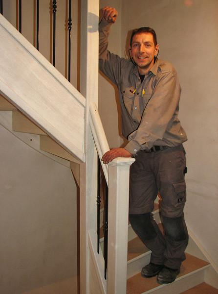 A nice piece of work. The producer of the stairs, Marc van de Hurk, Zijtaart.  Firm v.d. Linden, Veghel