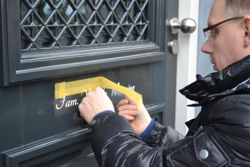 Nameplate, front door, Jufferlaan 36