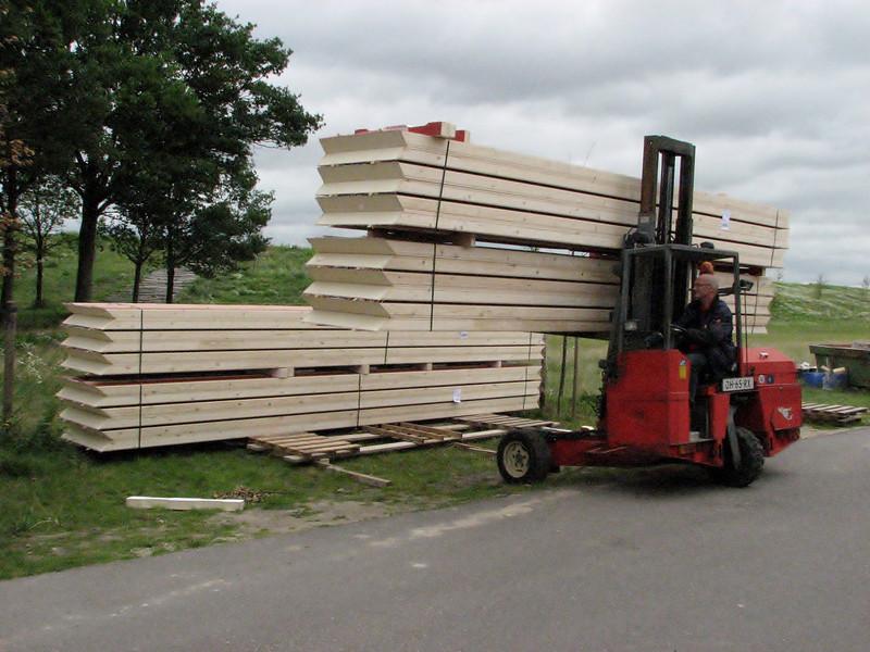 Delivering of Opstalan insulation boards