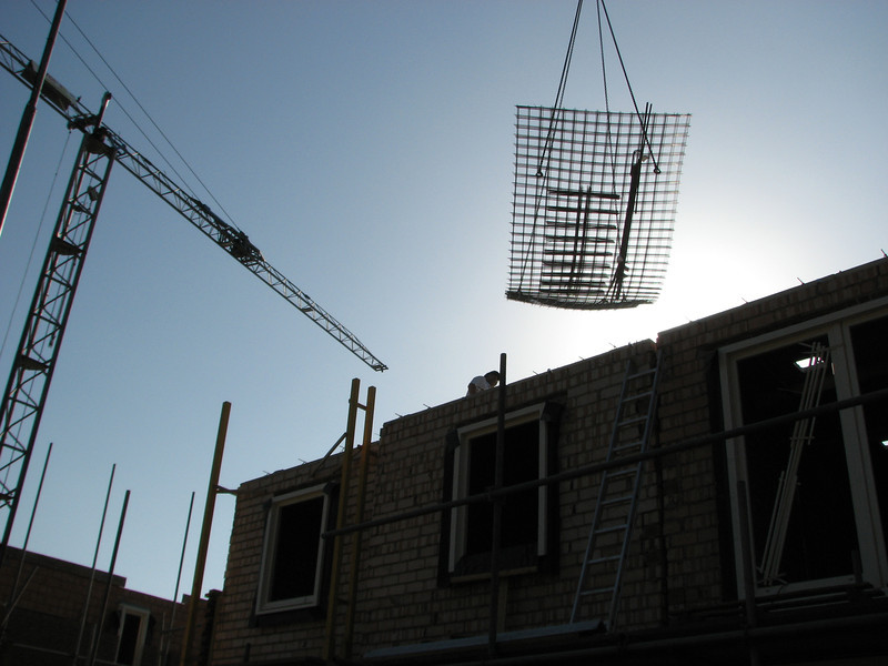 Unloading the reinforcement of the attic
