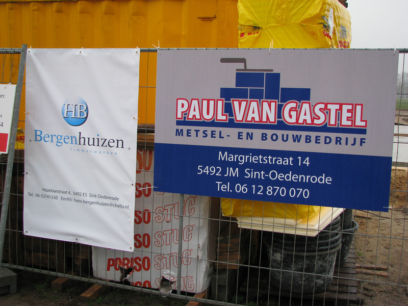 Sign of the bricklayer Paul van Gastel.