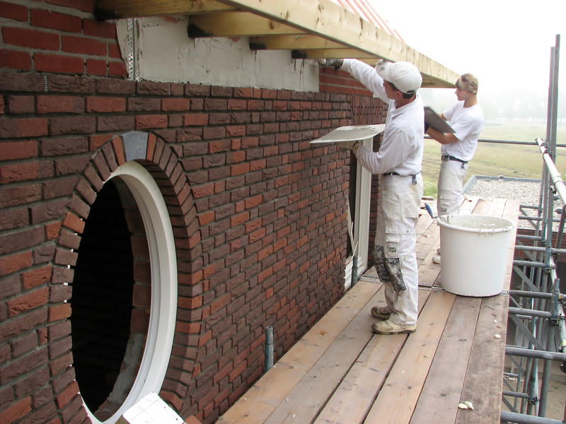 Plastering below the gutter (firm Ophey)