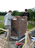 Bricklaying  the chimney