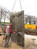 Spraying wax to prevent concrete sticking