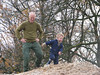 Climbing the hill with granddad Marijn
