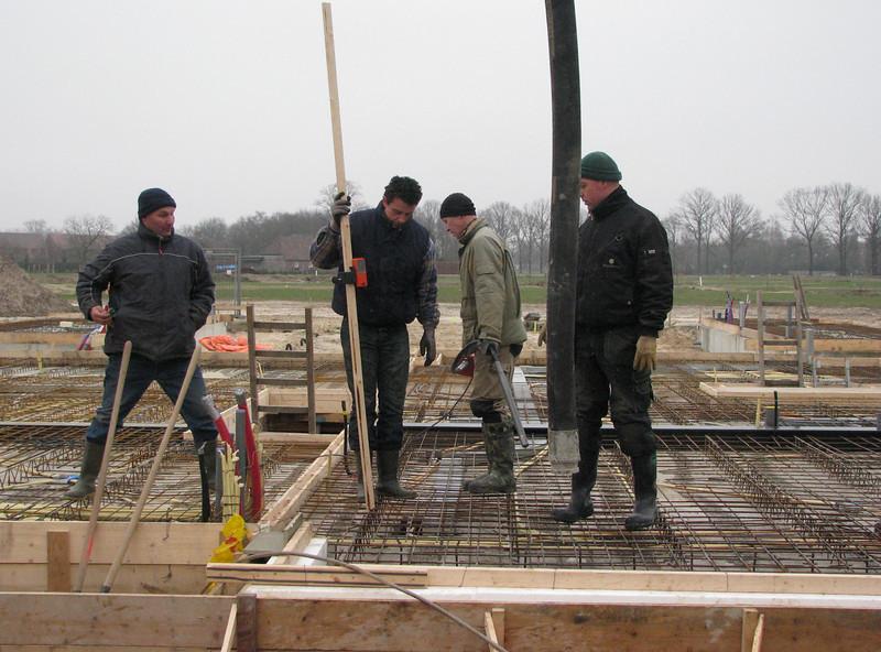 Concrete casting team